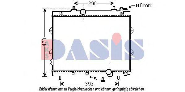 Радиатор, охлаждение двигателя AKS DASIS 510111N