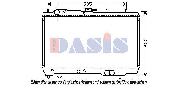 Радиатор, охлаждение двигателя AKS DASIS 510112N