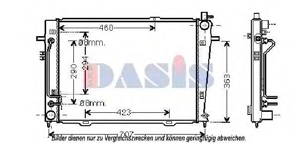 Радиатор, охлаждение двигателя AKS DASIS 510113N