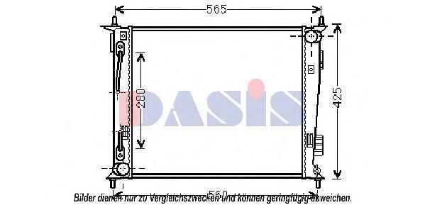 Радиатор, охлаждение двигателя AKS DASIS 510116N