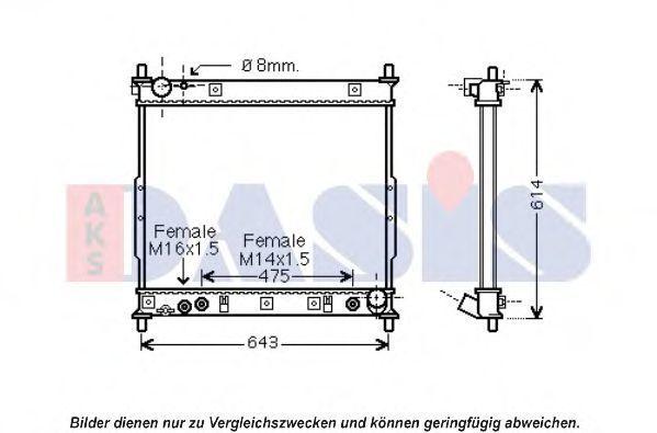 Радиатор, охлаждение двигателя AKS DASIS 510121N