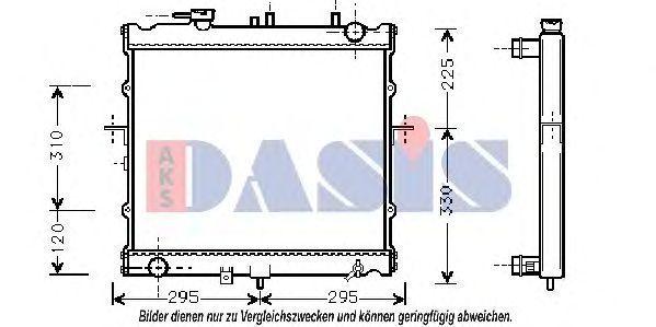 Радиатор, охлаждение двигателя AKS DASIS 510130N