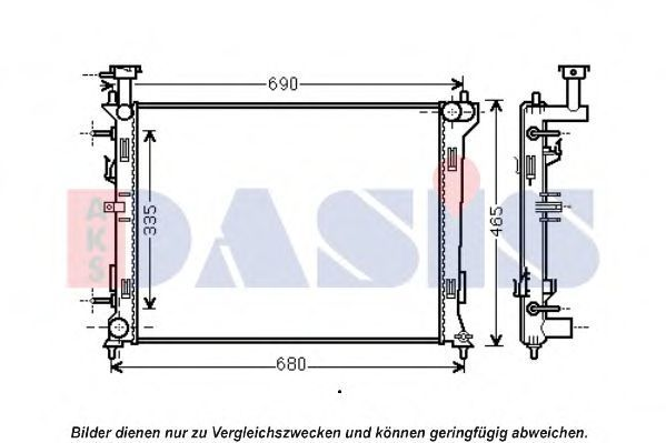 Радиатор, охлаждение двигателя AKS DASIS 510139N