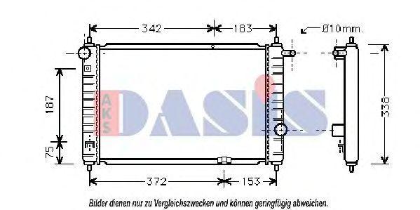 Радиатор, охлаждение двигателя AKS DASIS 510170N