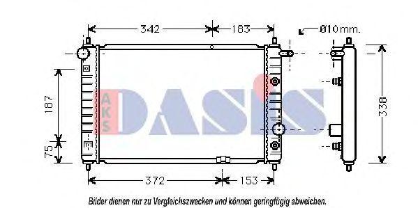 Радиатор, охлаждение двигателя AKS DASIS 510180N