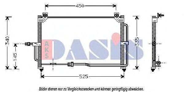 Конденсатор, кондиционер AKS DASIS 512000N