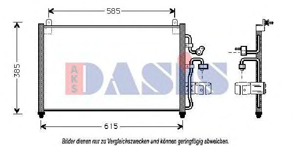 Конденсатор, кондиционер AKS DASIS 512003N