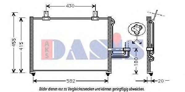 Конденсатор, кондиционер AKS DASIS 512012N