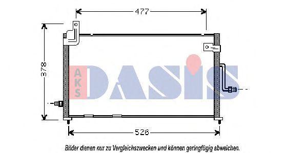 Конденсатор, кондиционер AKS DASIS 512014N