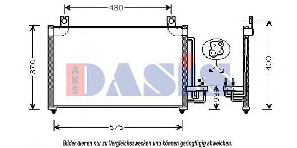 Конденсатор, кондиционер AKS DASIS 512025N