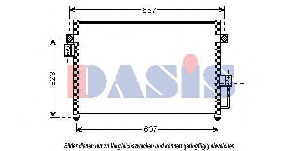 Конденсатор, кондиционер AKS DASIS 512026N