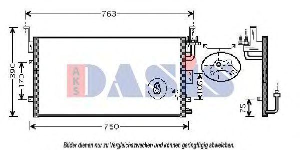 Конденсатор, кондиционер AKS DASIS 512027N