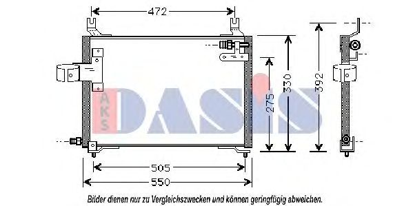 Конденсатор, кондиционер AKS DASIS 512030N