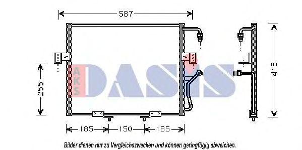 Конденсатор, кондиционер AKS DASIS 512040N