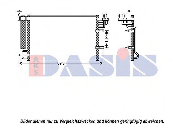 Конденсатор, кондиционер AKS DASIS 512041N