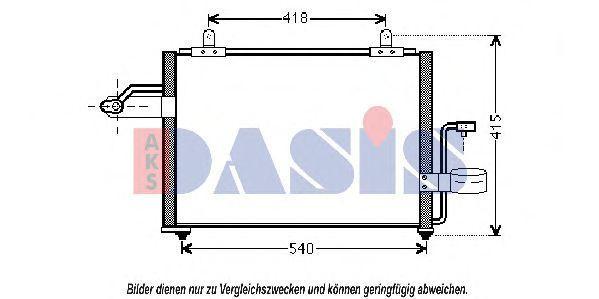 Конденсатор, кондиционер AKS DASIS 512048N