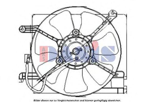 Вентилятор, охлаждение двигателя AKS DASIS 518005N