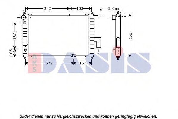 Радиатор, охлаждение двигателя AKS DASIS 520102N