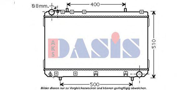 Радиатор, охлаждение двигателя AKS DASIS 520105N