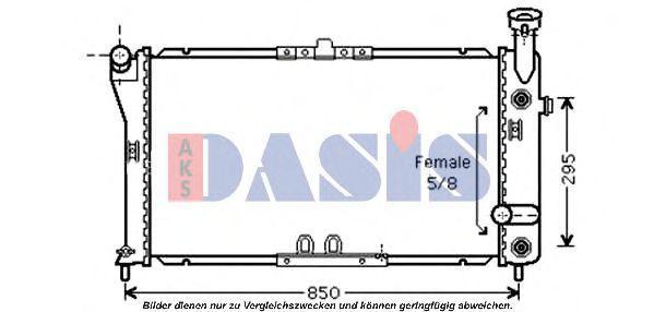 Радиатор, охлаждение двигателя AKS DASIS 520106N