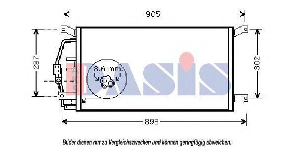 Конденсатор, кондиционер AKS DASIS 522043N
