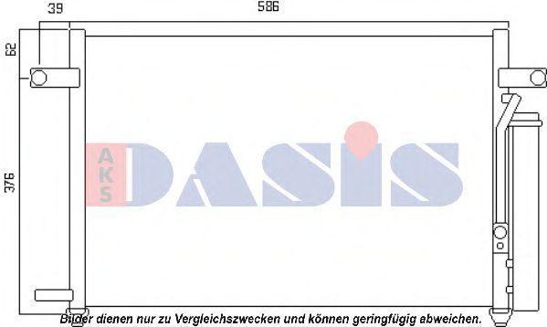 Конденсатор, кондиционер AKS DASIS 522064N