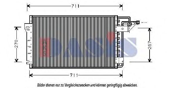 Конденсатор, кондиционер AKS DASIS 522070N