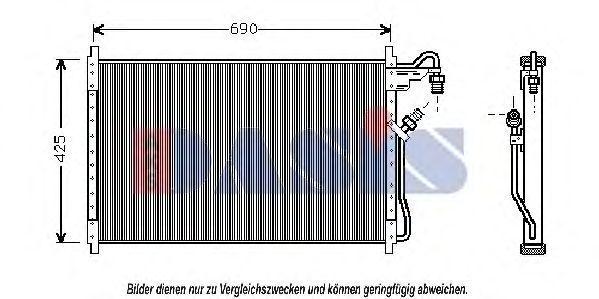 Конденсатор, кондиционер AKS DASIS 522120N