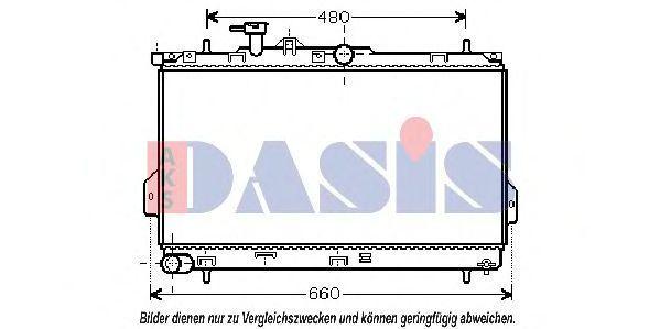 Радиатор, охлаждение двигателя AKS DASIS 560001N