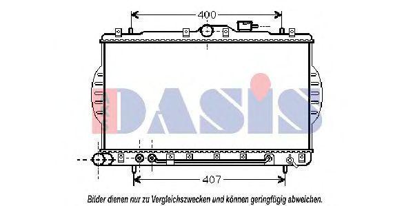 Радиатор, охлаждение двигателя AKS DASIS 560004N