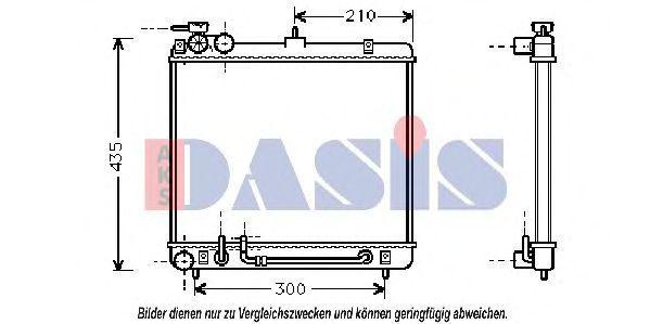 Радиатор, охлаждение двигателя AKS DASIS 560006N