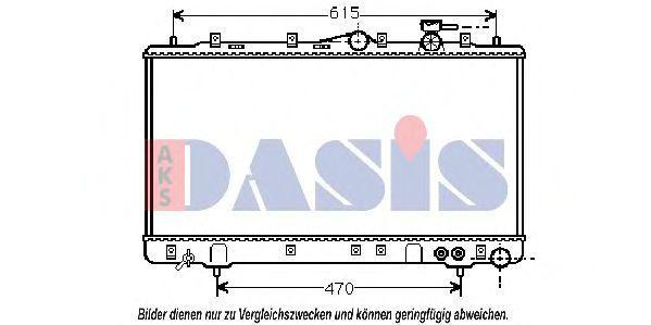 Радиатор, охлаждение двигателя AKS DASIS 560013N