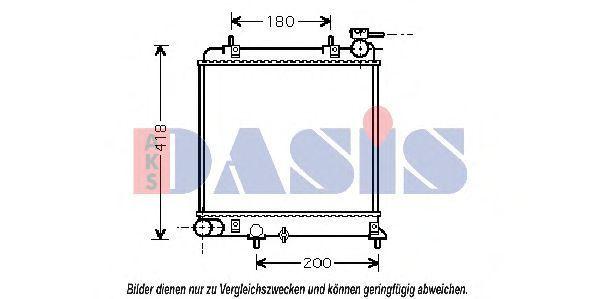 Радиатор, охлаждение двигателя AKS DASIS 560014N