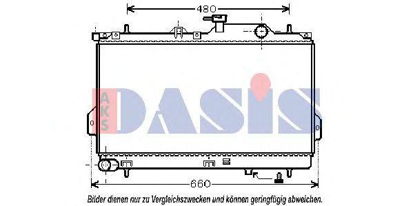 Радиатор, охлаждение двигателя AKS DASIS 560017N