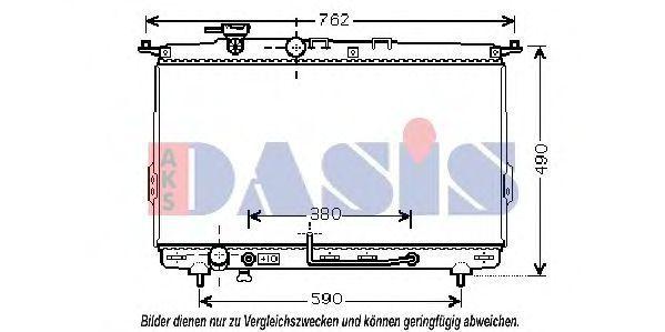 Радиатор, охлаждение двигателя AKS DASIS 560024N