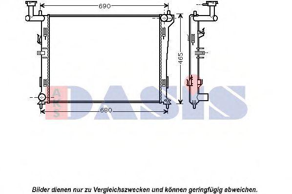 Радиатор, охлаждение двигателя AKS DASIS 560031N