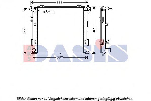 Радиатор, охлаждение двигателя AKS DASIS 560033N