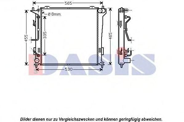 Радиатор, охлаждение двигателя AKS DASIS 560034N