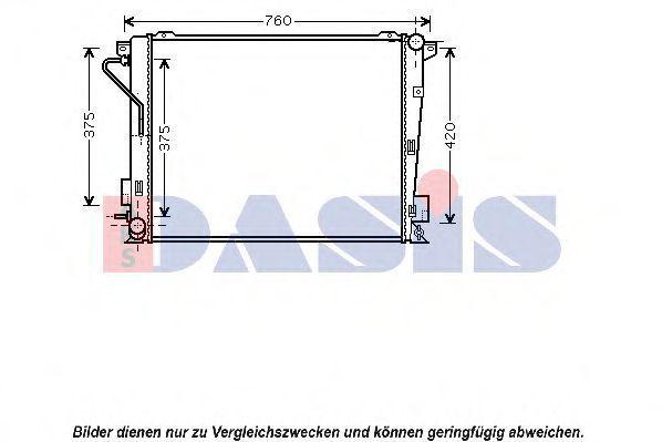 Радиатор, охлаждение двигателя AKS DASIS 560039N