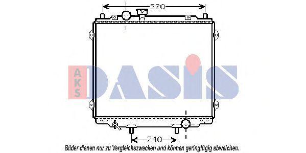 Радиатор, охлаждение двигателя AKS DASIS 560043N