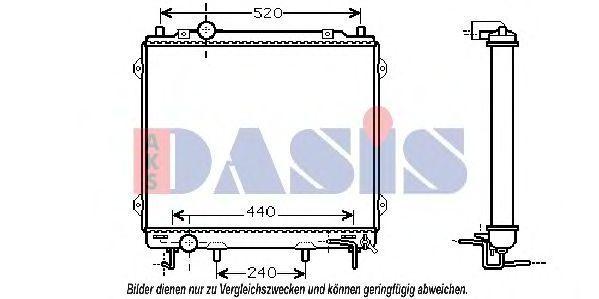 Радиатор, охлаждение двигателя AKS DASIS 560045N