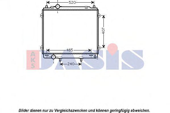 Радиатор, охлаждение двигателя AKS DASIS 560046N