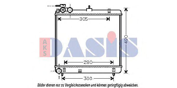 Радиатор, охлаждение двигателя AKS DASIS 560047N