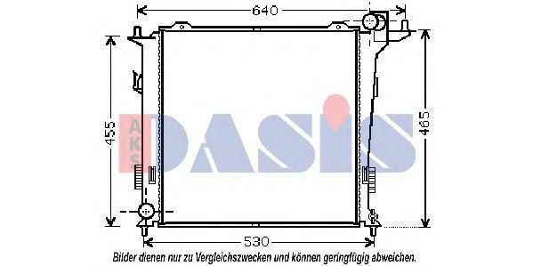 Радиатор, охлаждение двигателя AKS DASIS 560058N