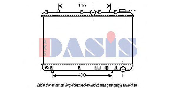 Радиатор, охлаждение двигателя AKS DASIS 560060N