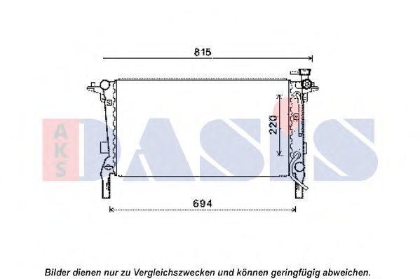 Радиатор, охлаждение двигателя AKS DASIS 560063N