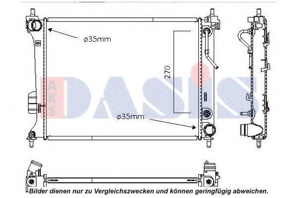 Радиатор, охлаждение двигателя AKS DASIS 560071N