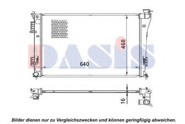 Радиатор, охлаждение двигателя AKS DASIS 560074N