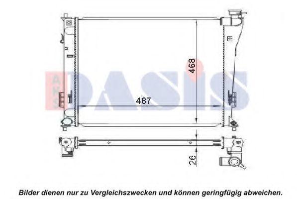 Радиатор, охлаждение двигателя AKS DASIS 560075N