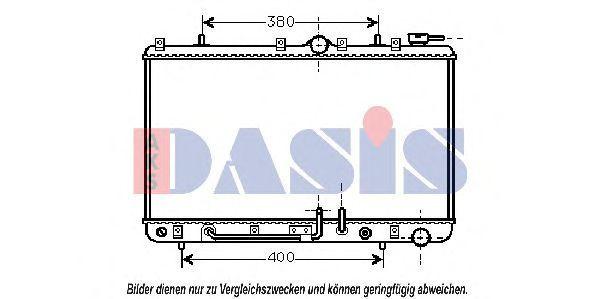 Радиатор, охлаждение двигателя AKS DASIS 560080N